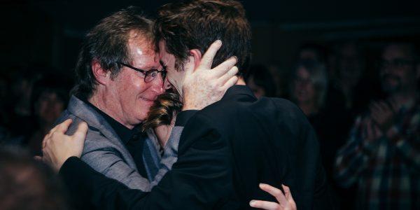 Soirée d'ouverture, Marc Messier et Émile Schneider, acteurs du film Le pacte des anges © Louis Jalbert